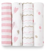 Aden And Anais Aden and Anais Infant Girls' Swaddle, 4 Pack