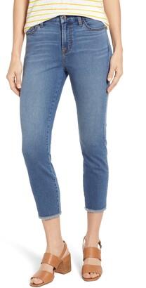 JEN7 by 7 For All Mankind Fray Hem Crop Skinny Jeans