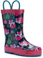 Western Chief Forest Fox Girls' Waterproof Rain Boots