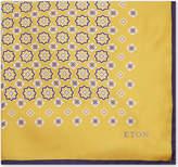 Eton Floral and tile silk pocket square