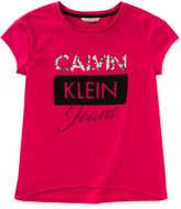 Calvin Klein Mixed Media Logo T-Shirt, Big Girls
