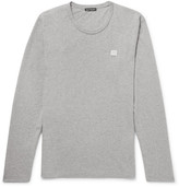 Acne Studios Nash Mélange Cotton-jersey T-shirt - Gray