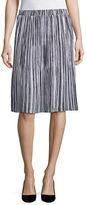 Ellen Tracy Striped A-Line Skirt