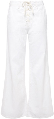 Mother Lace-up High-rise Wide-leg Jeans