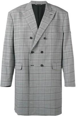 Balenciaga washed double-breasted coat