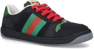 Gucci Leather Lace-Up Sneakers