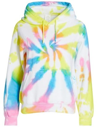 Worthy Threads Pastel Rainbow Tie-Dye Hoodie