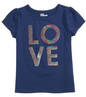 Epic Threads Little Girls Flip-Sequin Love T-Shirt, Created for Macy's