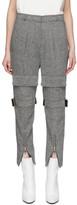 we11done Grey Herringbone Pocket Trousers