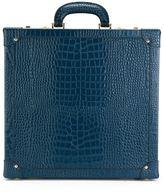 Family Affair - crocodile effect sunglasses briefcase - unisex - Wood/Calf Leather - One Size