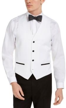 Alfani Men's Slim-Fit White Medallion Tuxedo Vest, Created for Macy's