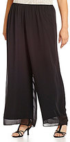 Alex Evenings Plus Silky Chiffon Pants