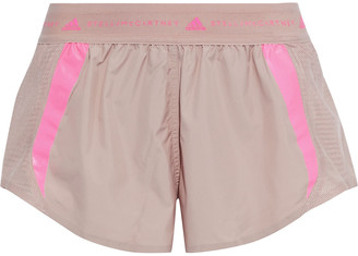 adidas by Stella McCartney Striped Shell And Mesh Shorts
