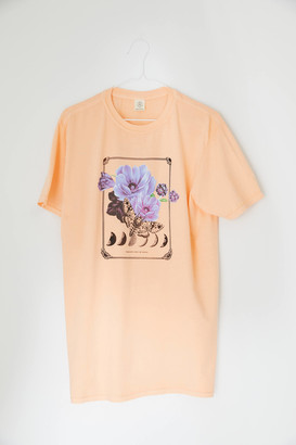 Floral + The Moon Tee