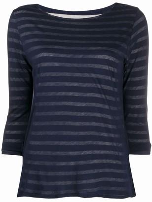Majestic Filatures layered stripe cotton T-shirt