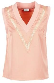 Vila VIANNABELLE women's Blouse in Pink