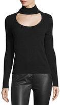 Diane von Furstenberg Gracey Cutout-Front Turtleneck Sweater