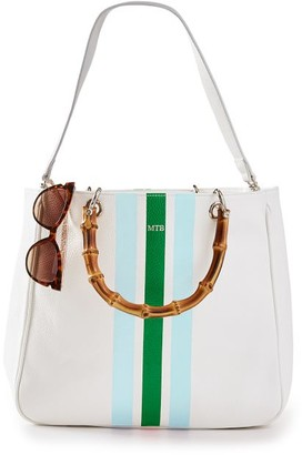 Mark & Graham Bamboo Elisabetta Tote with Strap, Stripe