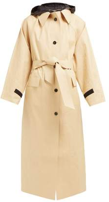 BEIGE Kassl Editions - Hooded Cotton-blend Raincoat - Womens Multi