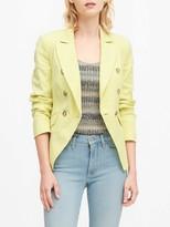 Banana Republic Double-Breasted Linen-Cotton Blazer
