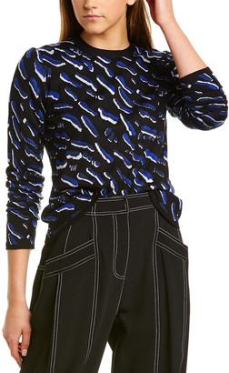 Derek Lam Animal Jacquard Cashmere & Silk-Blend Sweater