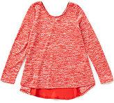 Copper Key Big Girls 7-16 High-Low Swing Space-Dye Knit Top