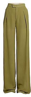 Chloé Women's Straight Pleated Silk Georgette Pants
