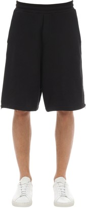 McQ Cotton Jersey Shorts W/ Logo Zips