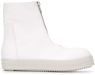 Rick Owens Front-Zip High-Top Sneakers