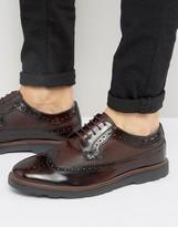 Silver Street Soho Brogues In Bordo Leather