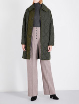 Stella McCartney Oversized quilted shell coat