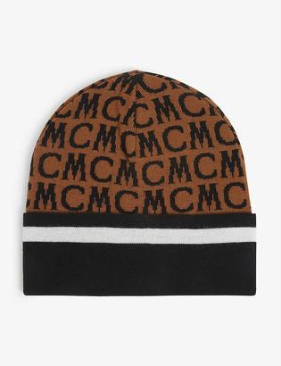 MCM Logo-print merino wool beanie