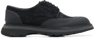 Doucal's Contrast Panel Derby Shoes