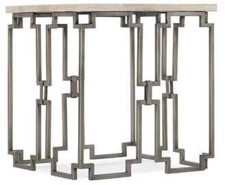 Hooker Furniture Emmeline End Table Table Base Color: Bronze, Table Top Color: Cream