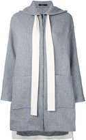 Bassike hooded coat - women - Wool - 6
