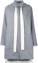 Bassike hooded coat