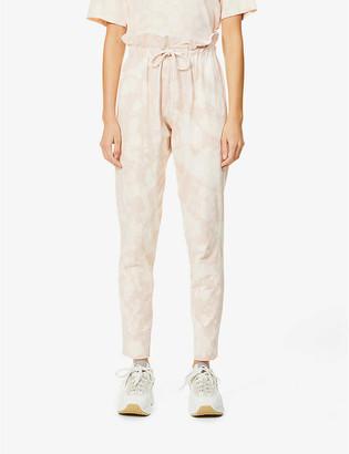 Bassike Motley paperbag-waist high-rise organic cotton jogging bottoms
