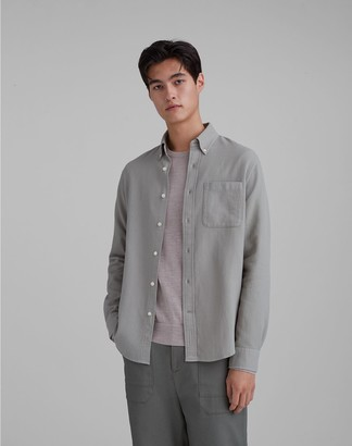 Club Monaco Standard Fit Waffle Knit Shirt