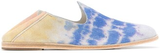Pedro Garcia ocean tie-dye Yoshi slip-on loafers