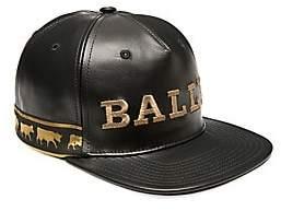 Bally Men's Animal Leather Baseball Cap