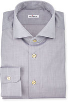 Kiton Solid Poplin Dress Shirt, Gray