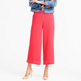 J.Crew Cropped wide-leg pull-on pant