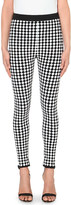 Balmain Harlequin stretch-knit trousers