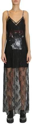 McQ Lace Detail Maxi Dress