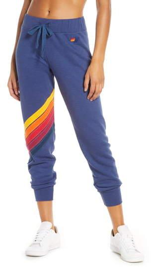 Aviator Nation Cross Stripe Sweatpants