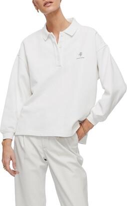 Anine Bing Tatum Oversize Long Sleeve Polo