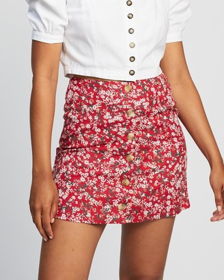 All About Eve Women's Mini skirts - Hand Painted Floral Skirt - Size One Size, 12 at The Iconic