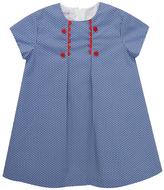 Royal Polka Dot Shift Dress - Toddler & Girls