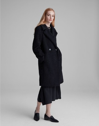 Club Monaco Faux Astrakhan Coat