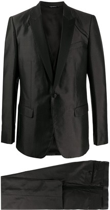 Dolce & Gabbana Polka Dots Three-Piece Dinner Suit